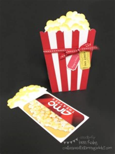 Gift Cards For Movies Theatres - popcorn card holds a movie theater gift card confessions of a sting addict