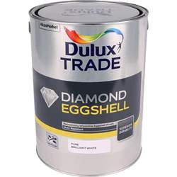 dulux trade eggshell paint brilliant white 5l toolstation