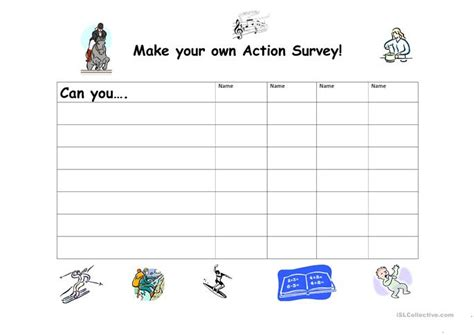 13 free esl make your own worksheets - Create Own Survey