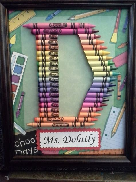 homemade teacher gift how to make a crayon monogram teacher gifts crayon letters gift ftempo