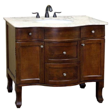 Traditional 38 2 Inch Single Sink Vanity And Cabinet In 2 Sink Bathroom Vanity