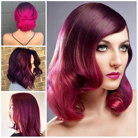 color hairstyles 23 ideas for trendy magenta hair color hairstyles for