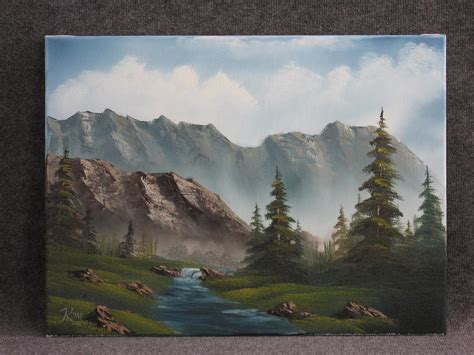 acrylic painting kevin fly fishing creek by kevin hill