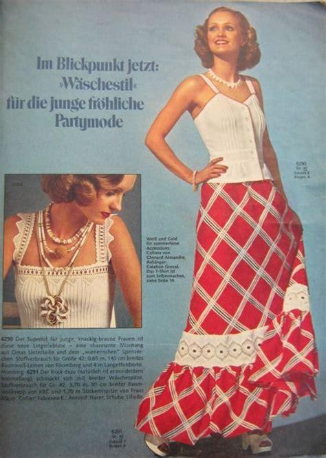 imagenes moda retro años 70 a 241 os 70 conjunto de verano revista burda moda en