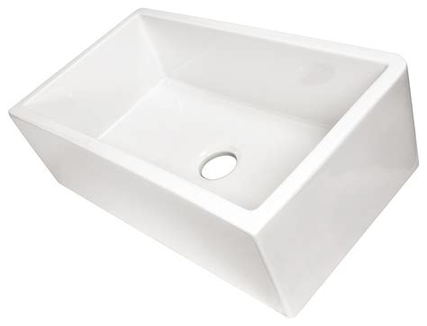 italian farmhouse fireclay sink 33 quot contemporary