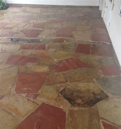 flagstone patio that was sealed enhanced with dupont stone sealer enhancer yelp