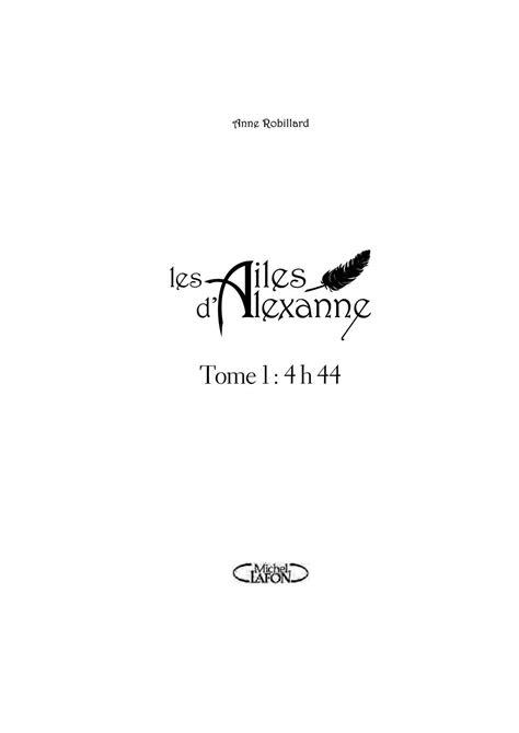 Calaméo - Les Ailes d'Alexanne - Tome 1 : 4 h 44 - Anne