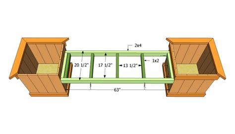 planter box bench plans free planter bench plans myoutdoorplans free woodworking