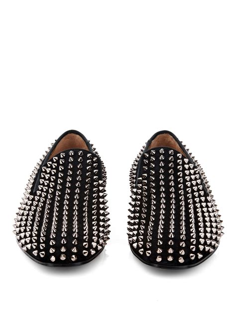 christian louboutin studded loafers christian louboutin dandelion studded suede loafers in