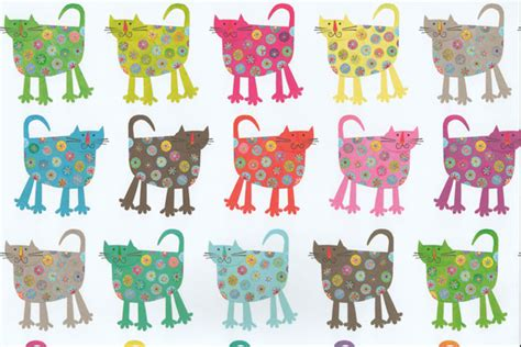 Cool Wrap Gift Bags - flower cat gift wrap cool wrapping paper for cats at tattypuss
