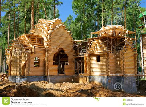 build a new home building of the new log house stock image image 18831339