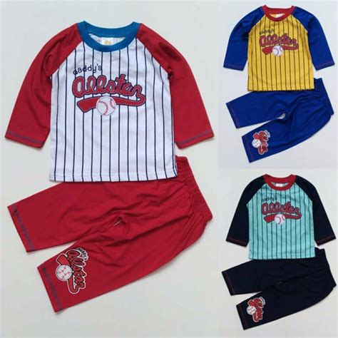 880008 Baju Tidur Anak 1 jual baju tidur piyama anak bayi cowok laki all baseball 1115 di lapak raphael