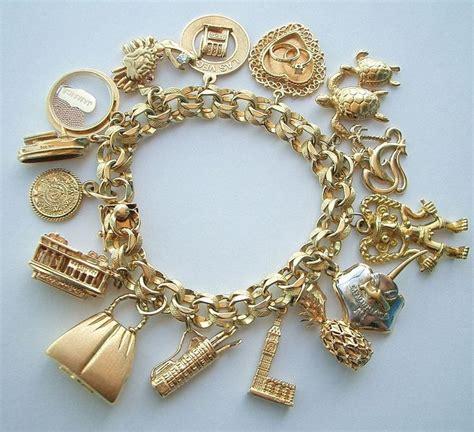 17 best ideas about gold charm bracelets on
