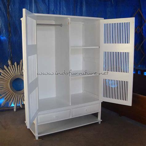 Lemari Kayu Putih lemari pakaian kayu minimalis putih indofurniture