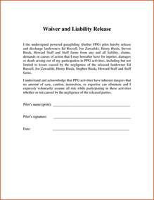 Liability Form Template by Doc 585565 Sle Liability Waiver Form 9 Free