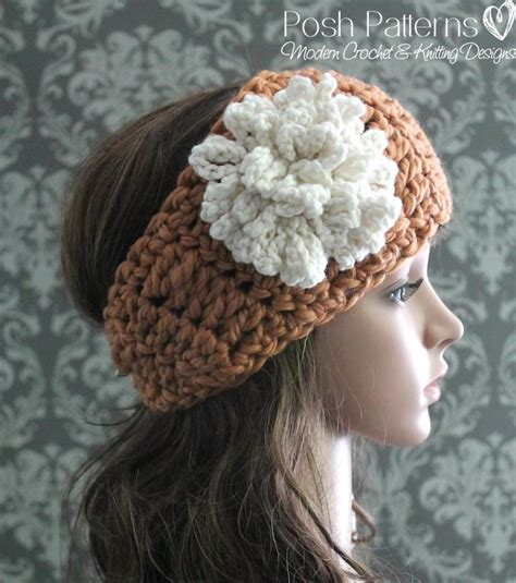 crochet pattern for headbands with flowers headband loopy flower crochet pattern allfreecrochet com