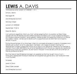 Resignation Letter Template Uk by Friendly Resignation Letter Resignation Letters Livecareer