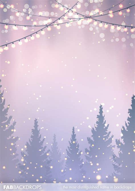 fab drops christmas lights and christmas trees backdrop