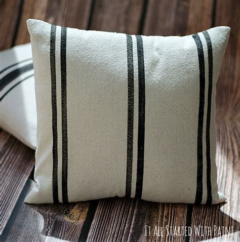 Grainsack Pillows by Faux Grain Sack Pillows It All Started With Paint
