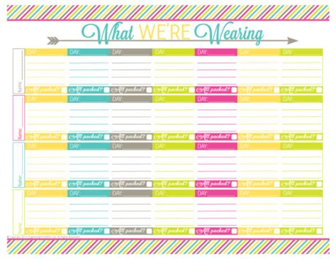 search results for printable vacation planner template