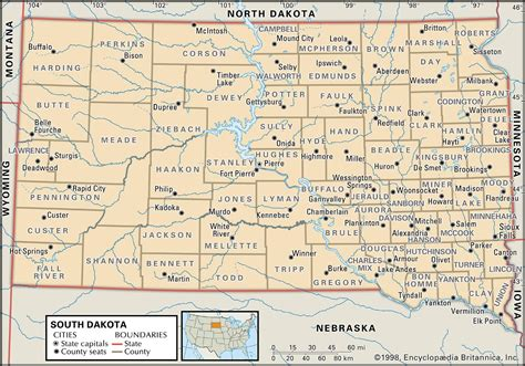map of sd state and county maps of south dakota