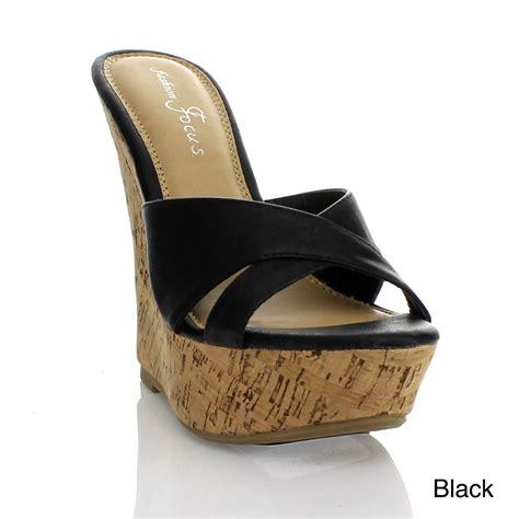 fashion focus s platform wedges heels sandals