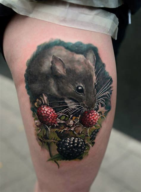 mouse tattoo field mouse best design ideas
