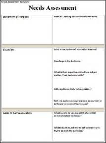 needs assessment template needs assessment template free printable word templates