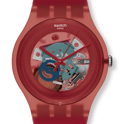red swatch red swatch watch