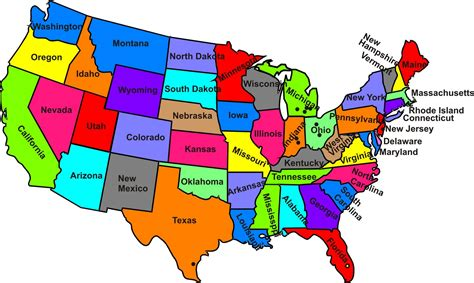 map of usa with states printable map of the united states of america clipart best