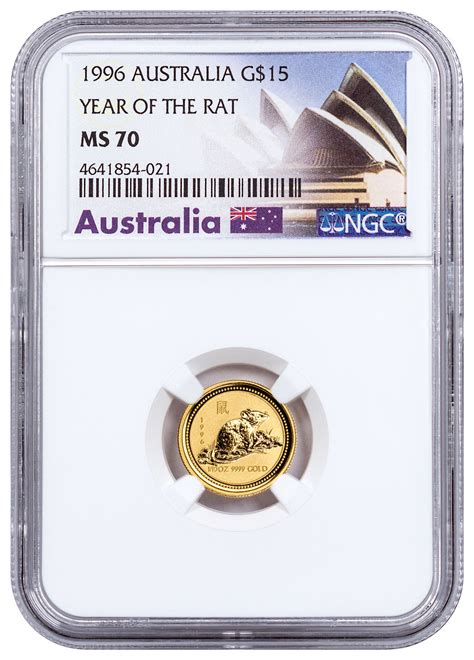 1996 australia year of the rat 1 10 oz gold lunar s1 15