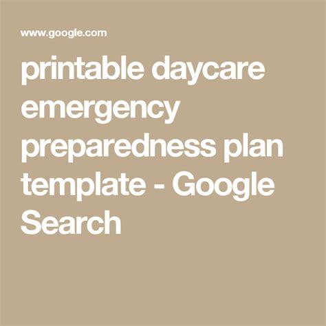daycare emergency preparedness plan template printable daycare emergency preparedness plan template