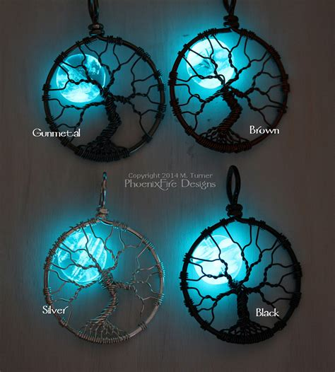 how to make glow in the jewelry glow in the moon wire wrapped tree of