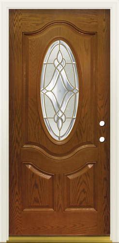 Mastercraft Lu 930 3 4 Oval Prefinished Fiberglass Prehung Menards Mastercraft Exterior Doors