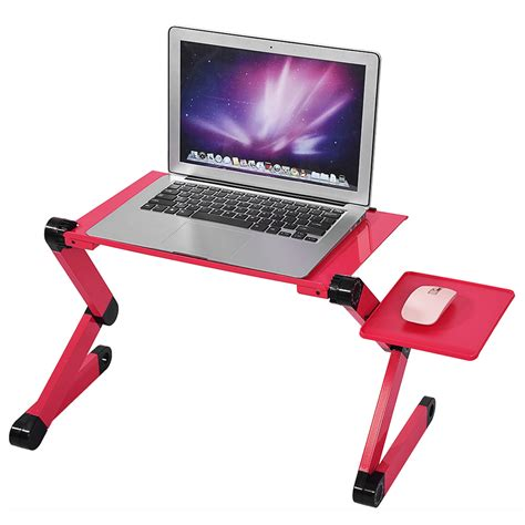 Laptop Desk Portable Portable Folding Laptop Desk Adjustable Computer Table Stand Tray Brand New Sale Ebay