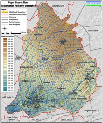 upper thames river conservation authority map environment township of perth east