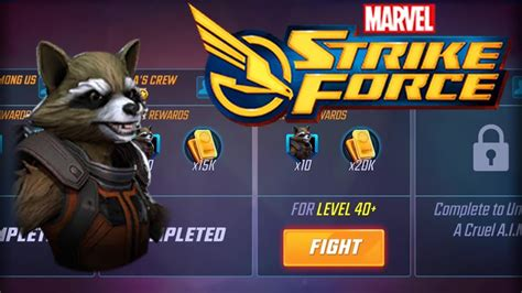 marvel strike force rocket racoon event completed
