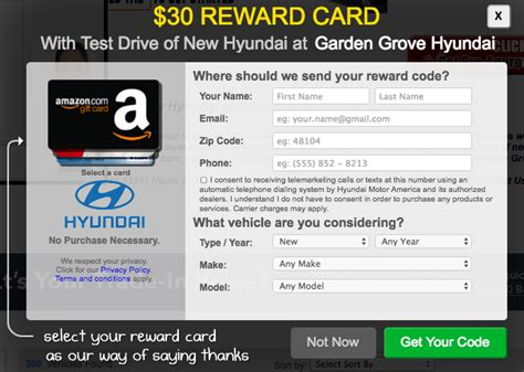 Test Drive Gift Card Offers 2017 Toyota - test drive a hyundai get a 30 gift card deals we like