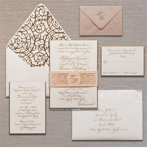 custom wedding invitations nyc v239 our muse stylish downtown nyc wedding kate dominic part 1 ceci style
