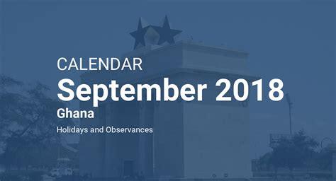september  calendar ghana