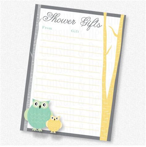 owl to do list printable owl baby shower shower gift list printable by