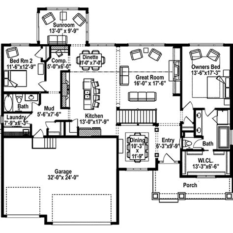 green home floor plans green orchard ranch home plan 072d 1108 house plans and more