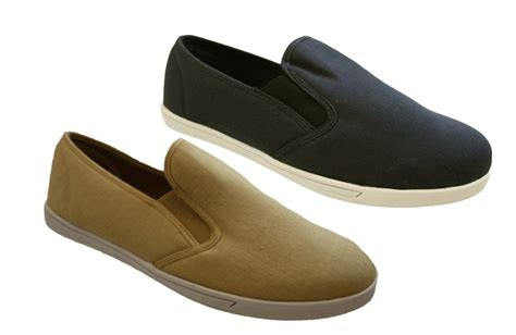 mens navy or beige standard or wide fit canvas casual