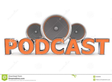orange podcast speakers podcast orange royalty free stock images