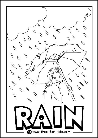 image of rainy day colouring page weather pinterest