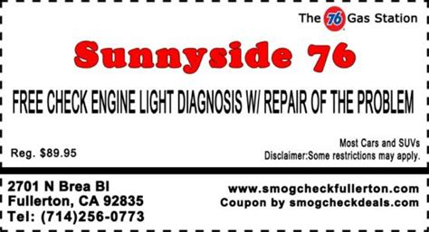free check engine light diagnosis 29 75 star smog check with smog coupon star station