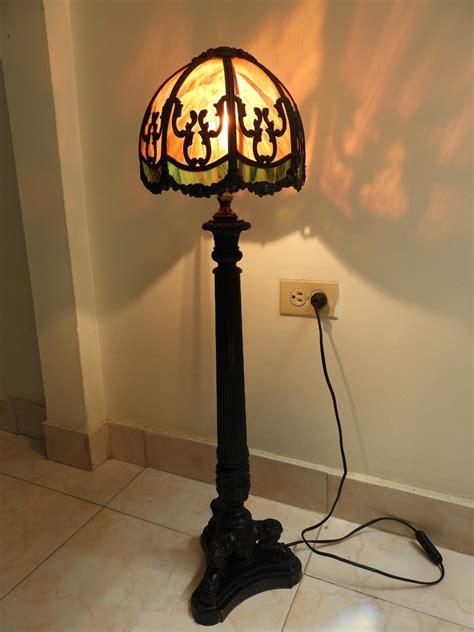 lampara inglesa vitral  bronce  en mercado libre