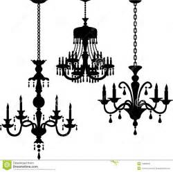 Rococo Chandelier Antique Chandelier Silhouettes Eps Stock Photos Image