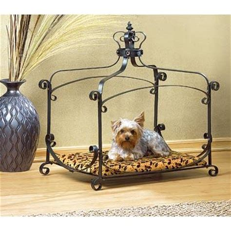 dog canopy bed royal wrought iron small pet bed dog cat kitten canopy