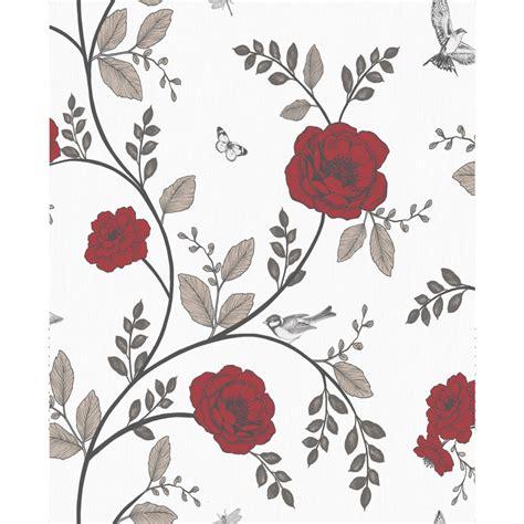 black and white wallpaper wilko wilko molly floral grey wallpaper
